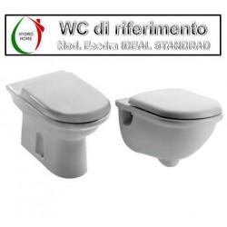 copy of Copriwater Tesi Ideal Standard legno verniciato bianco Carrara & Matta