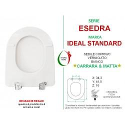 Copriwater Esedra Ideal Standard legno verniciato bianco Carrara & Matta