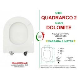 Copriwater Quadrarco 2 Dolomite legno verniciato bianco Carrara & Matta