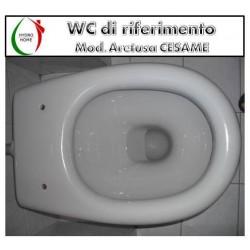 copy of Copriwater Fenice Cesame legno verniciato bianco Carrara & Matta