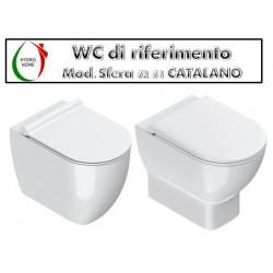 copy of Copriwater Adria Falerii legno rivestito in resina poliestere bianco