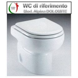 copy of Copriwater Ethos Galassia termoindurente avvolgente bianco