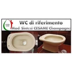 copy of Copriwater Piemonte Pozzi Ginori legno rivestito in resina poliestere Champagne