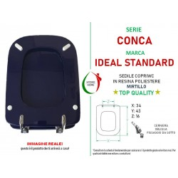 Copriwater Conca Ideal Standard legno rivestito in resina poliestere Mirtillo