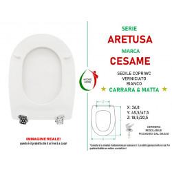 Copriwater Aretusa Cesame legno verniciato bianco Carrara & Matta