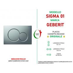 copy of Piastra di azionamento Bianca Sigma01 doppio tasto Geberit