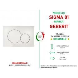 copy of Piastra di azionamento Cromo Sigma01 doppio tasto Geberit