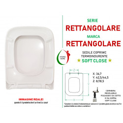 copy of Copriwater Universale Paris termoindurente Soft Close Sgancio Rapido