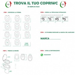 Copriwater Universale Paris termoindurente Soft Close Sgancio Rapido