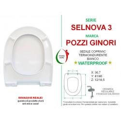 Copriwater Selnova 3 Pozzi Ginori termoindurente bianco