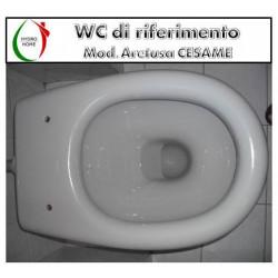 copy of Copriwater K09 Kerasan legno rivestito in resina poliestere bianco