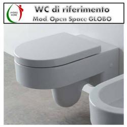 Copriwater Open Space Concept Globo termoindurente avvolgente bianco come originale