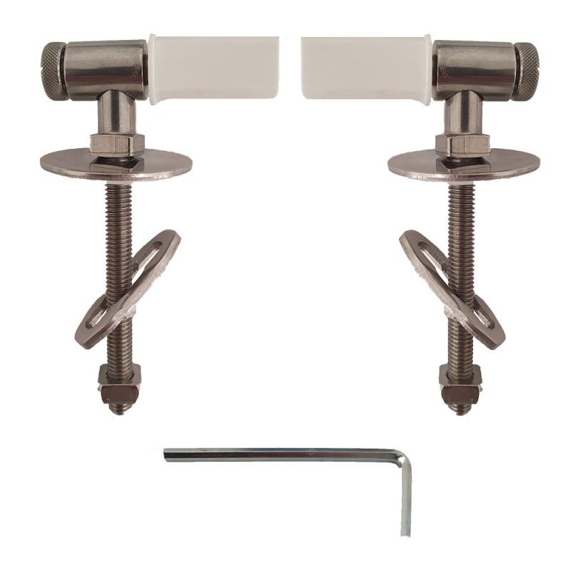 copy of Cerniere regolabili fissaggio da alto acciaio inox per copriwc termoindurente