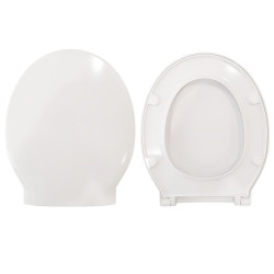 Copriwater Soft Nero Ceramica termoindurente bianco Soft Close