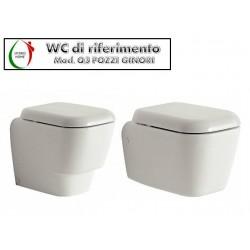 Copriwater Q3 Pozzi Ginori legno rivestito in resina poliestere bianco