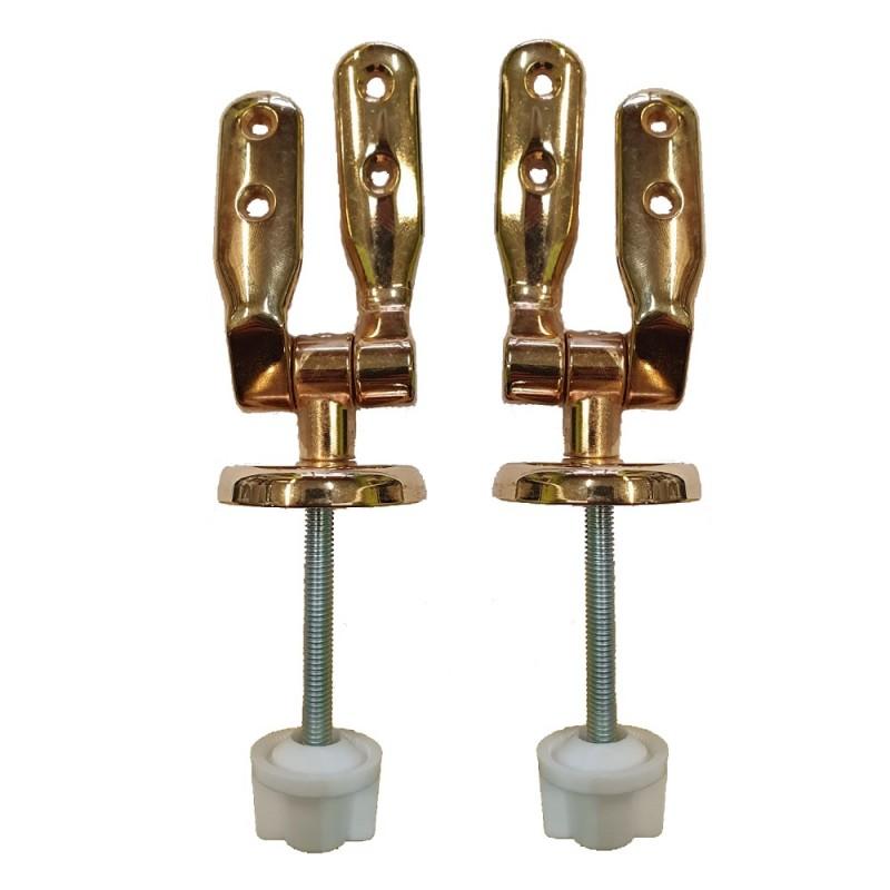 Cerniere regolabili fissaggio dal basso colore oro