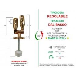 copy of Cerniere regolabili fissaggio dall'alto cromo lucido