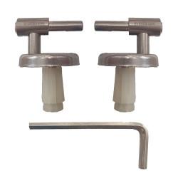 Cerniere regolabili Dahlia fissaggio ad espansione acciaio inox per copriwc termoindurente