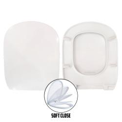 Copriwater Gemma 2 Dolomite termoindurente bianco Soft Close Sgancio Rapido
