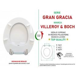 Copriwater Gran Gracia Villeroy & Boch legno rivestito in resina poliestere bianco