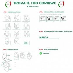 Copriwater Toscana Vavid legno rivestito in resina poliestere bianco